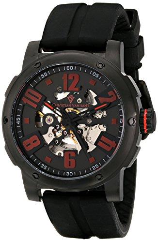 Christian Van Sant Herren cv6133 Skelett Analog Display Automatische selbst wind black watch