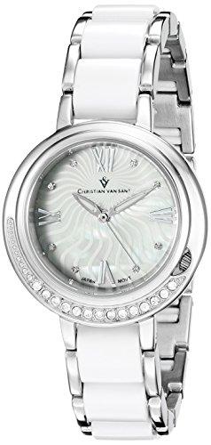 Christian Van Sant Damen cv7610 Analog Display Quarz Zweifarbige Armbanduhr