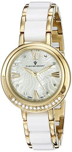 Christian Van Sant Damen cv7611 Analog Display Quarz Zweifarbige Armbanduhr