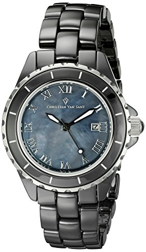Christian Van Sant Damen cv9414 Analog Display Quartz Black Watch