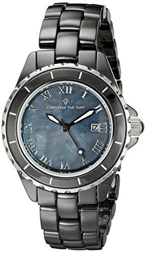 Christian Van Sant Damen cv9414 Analog Display Quartz Black Watch