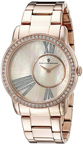 Christian Van Sant Damen cv3613 Analog Anzeige Quarz Rose Gold Watch