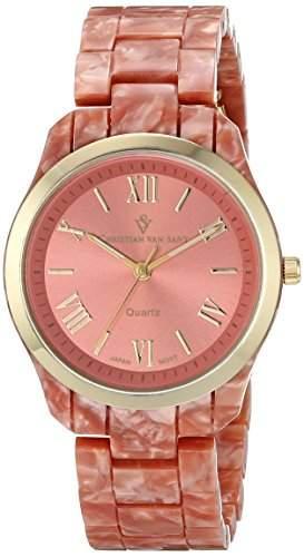 Christian Van Sant Damen CV3413 Granite Analog Display Quartz Pink Armbanduhr