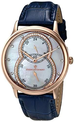 Christian Van Sant Damen CV5412 Infinie Analog Display Quartz Blue Armbanduhr