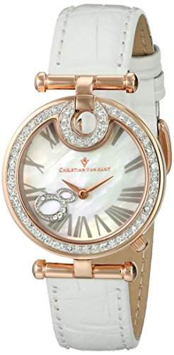 Christian Van Sant Damen CV6410 Glamour Analog Display Quartz White Armbanduhr