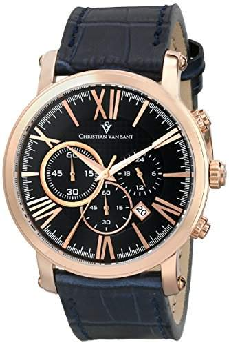 Christian Van Sant Herren CV8323 Mister Analog Display Quartz Blue Armbanduhr