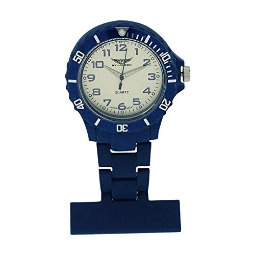 Prince NY London Koenigsblau Silikon Gummi Kunststoff Krankenschwester Taschenuhr Krankenschwester Brosche In Koenigsblauer Farbe