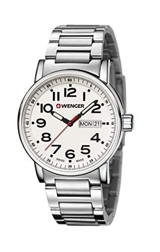 WENGER Unisex-Armbanduhr Analog Quarz Edelstahl 010341102