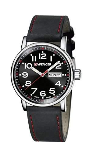 WENGER Unisex-Armbanduhr Analog Quarz Leder 010341103