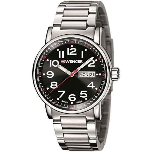 WENGER Unisex-Armbanduhr Analog Quarz Edelstahl 010341104