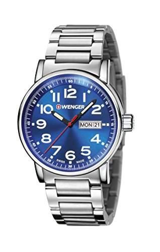 WENGER Unisex-Armbanduhr Analog Quarz Edelstahl 010341105
