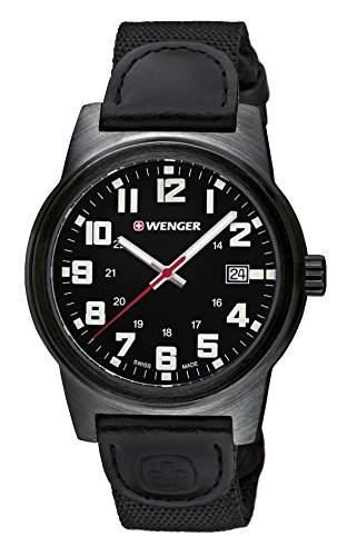 WENGER Herren-Armbanduhr Analog Quarz Leder 010441140