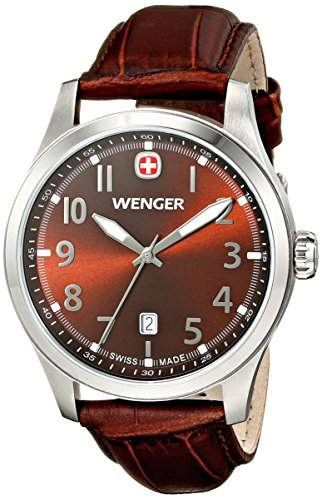 Wenger Herren-Armbanduhr Seaforce Analog Quarz Leder 10541119