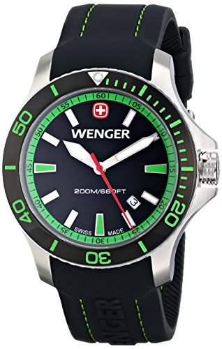 Wenger Herren-Armbanduhr XL SEAFORCE Analog Quarz Kautschuk 010641118
