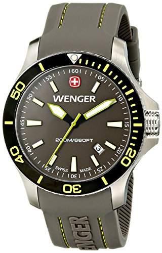 Wenger Herren-Armbanduhr XL SEAFORCE Analog Quarz Kautschuk 010641110