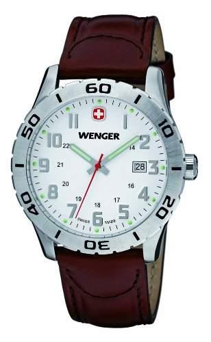 Wenger Herren-Armbanduhr XL Grenadier Analog Quarz Leder 010741101
