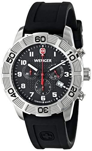 Wenger Herren-Armbanduhr XL Roadster Chrono Analog Quarz Silikon 010853101
