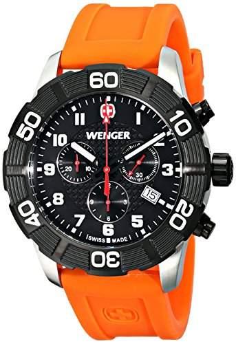 Wenger Herren-Armbanduhr XL Roadster Chrono Analog Quarz Silikon 010853103