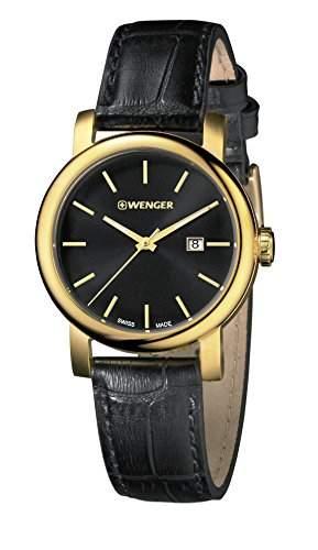 WENGER Damen - Armbanduhr Analog Quarz Leder URBAN VINTAGE 011021121