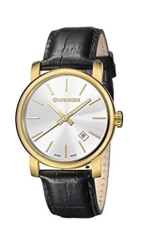 WENGER Herren - Armbanduhr Analog Quarz Leder URBAN CLASSIC VINTAGE 011041119