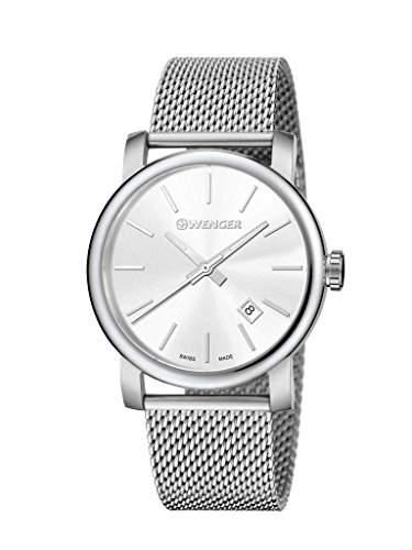 WENGER Herren - Armbanduhr Analog Quarz Edelstahl URBAN CLASSIC VINTAGE 011041121