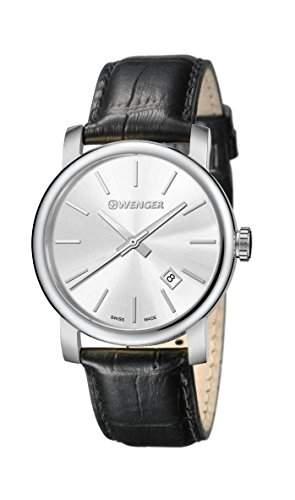 WENGER Herren - Armbanduhr Analog Quarz Leder URBAN CLASSIC VINTAGE 011041122