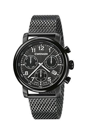 WENGER Herren-Armbanduhr Chronograph Quarz Edelstahl URBAN CLASSIC CHRONO 011043108