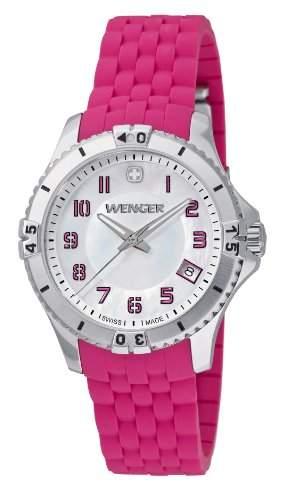 Wenger Damen-Armbanduhr Squadron Lady Analog Quarz Silikon 010121101