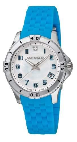 Wenger Damen-Armbanduhr Squadron Lady Analog Quarz Silikon 010121102