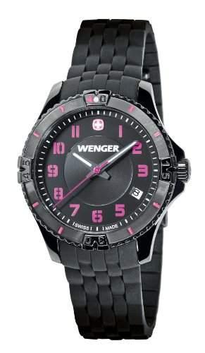 Wenger Damen-Armbanduhr Squadron Lady Analog Quarz Silikon 010121105