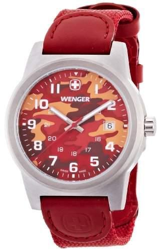 wenger Herren-Armbanduhr camo Analog nylon rot 010441111