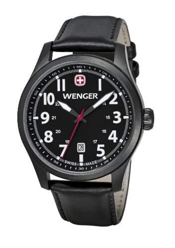Wenger Herren-Armbanduhr XL Terragraph Analog Quarz Leder 010541101