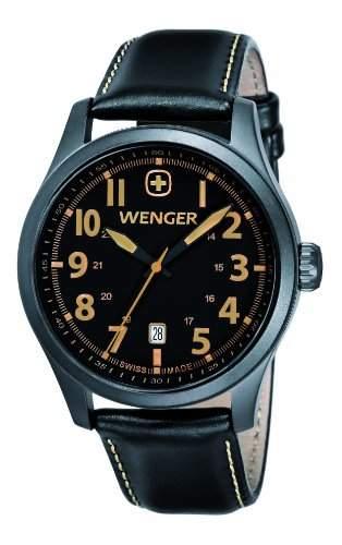 Wenger Herren-Armbanduhr XL Terragraph Analog Quarz Leder 010541105