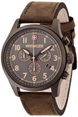 Wenger Herren-Armbanduhr XL Terragraph Chronograph Quarz Leder 015431103