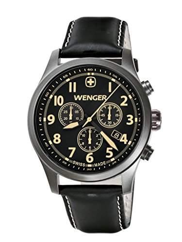 Wenger Herren-Armbanduhr XL Terragraph Chronograph Quarz Leder 015431104