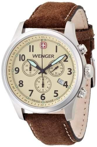 Wenger Herren-Armbanduhr XL Terragraph Chronograph Quarz Leder 015431105