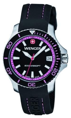 Wenger Damen-Armbanduhr Seaforce Analog Quarz Silikon 010621103