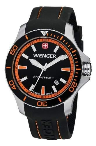 Wenger Herren-Armbanduhr XL Seaforce Analog Quarz Silikon 010641102