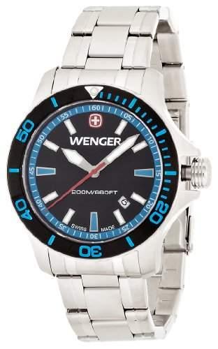 Wenger Herren-Armbanduhr XL Seaforce Analog Quarz Edelstahl 010641106