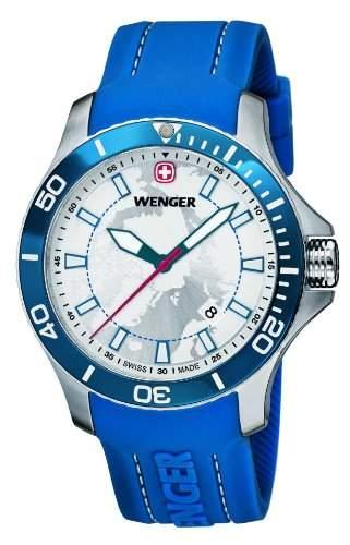Wenger Herren-Armbanduhr XL SEAFORCE Arctic Light Edition Analog Quarz Kautschuk 600641112