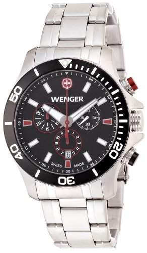 Wenger Herren-Armbanduhr XL Seaforce Chronograph Quarz Edelstahl 010643101