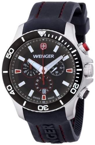 Wenger Herren-Armbanduhr XL Seaforce Chronograph Quarz Silikon 010643102
