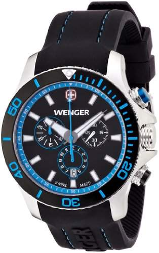 Wenger Herren-Armbanduhr XL Seaforce Chronograph Quarz Silikon 010643103