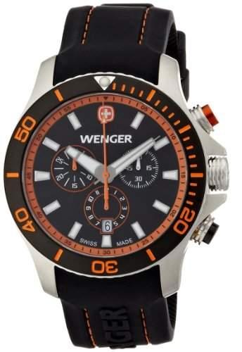 Wenger Herren-Armbanduhr XL Seaforce Chronograph Quarz Silikon 010643104