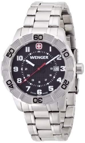 Wenger Herren-Armbanduhr XL Roadster Analog Quarz Edelstahl 010851102