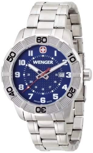 Wenger Herren-Armbanduhr XL Roadster Analog Quarz Edelstahl 010851103
