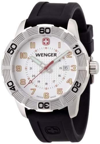 Wenger Herren-Armbanduhr XL Roadster Analog Quarz Silikon 010851104
