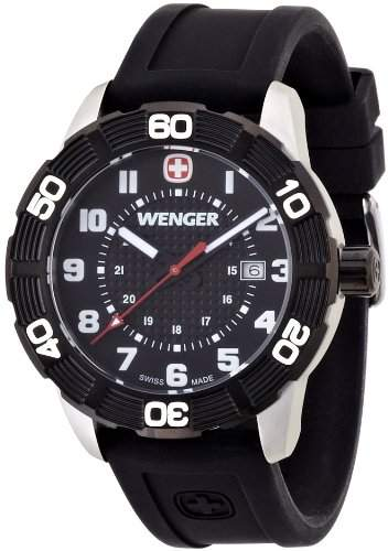 Wenger Herren-Armbanduhr XL Roadster Analog Quarz Silikon 010851105