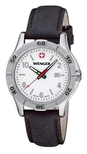 Wenger Damen-Armbanduhr XS Platoon Analog Quarz Leder 019211102