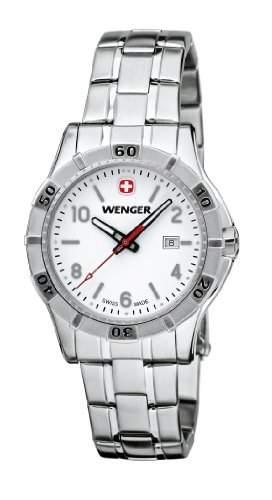 Wenger Damen-Armbanduhr XS Platoon Analog Quarz Edelstahl 019211103